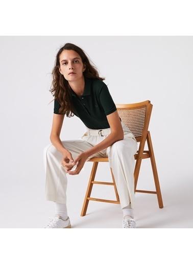 Lacoste Kadın Slim Fit Tişört PF5462.YZP Yeşil